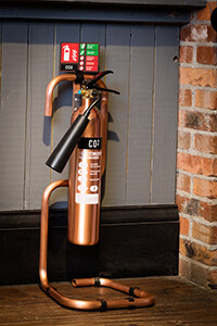 Brushed Antique Copper Extinguishers
