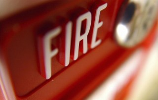 red fire sign